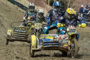 Motocross Frauenfeld 2013 - Seitenwagen WM: Thomas Morch / Stefan Nicke vor Igor Rodionov / Dmitri Rodionov