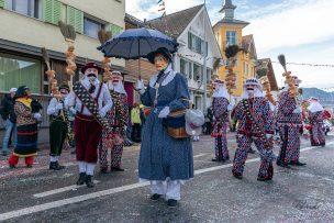 Wylägerer Fasnacht 2019 Unterägeri - Tiroler, Blätz und Hudi